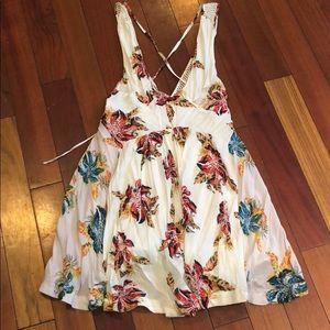 Free People Floral Mini Dress Size XS